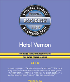 Booking.com Reviews Oustanding Award Hotels Vernon Texas